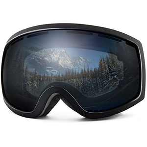 Wantdo Ski Goggles Snow Goggles Cycling Goggles for Snowboarding Grey,VLT 9%