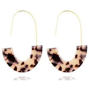 Rattan Earrings for Women, Fashion Acrylic Earrings Set for Women Christmas Earrings Gift, Dangle Statement Womens Earrings