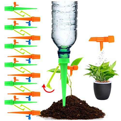 Freehawk Plant Waterer Automatic Self Watering SpikesSelf Irrigation Watering System Self Drip Irrigation with Slow Release Control Valve Switch for Potted Plants (24PCS New)