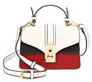 Scarleton Mini Top Handle Satchel Handbag for Women, Vegan Leather 3 Compartment Crossbody Bag, Shoulder Purse, Off White, H207702