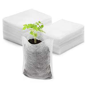 """ENPOINT 200PCS Plant Nursery Bags, 3.5""""x4.7"""" Non-Woven Plant Seeding Bags, Vegetables Fabric Seedling Pots Planting Transplant Grow Pouch Home Garden Supply"""