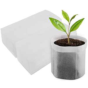 "EnPoint Nursery Grow Bags, 100 PCS Solid Non-Woven Plants Grow Bags 7.8""x8.6"", Seed Starter Bags Fabric Seedling Pots Plants Pouch Home Garden Supply"