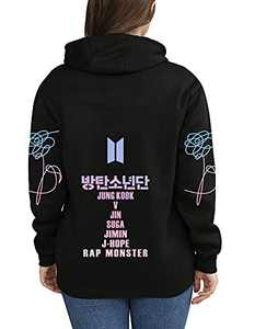 Kpop Hoodie Love Yourself Sweatshirts SUGA Jimin Jungkook V Hooded Sweater
