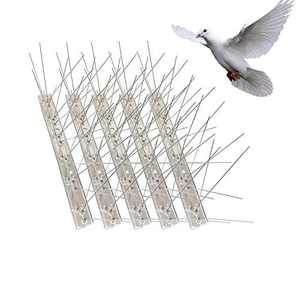 Basiney Bird Spikes for Pigeons Small Birds Cat,Anti Bird Spikes Stainless Steel Bird Deterrent Spikes 13 Feet (16pack)