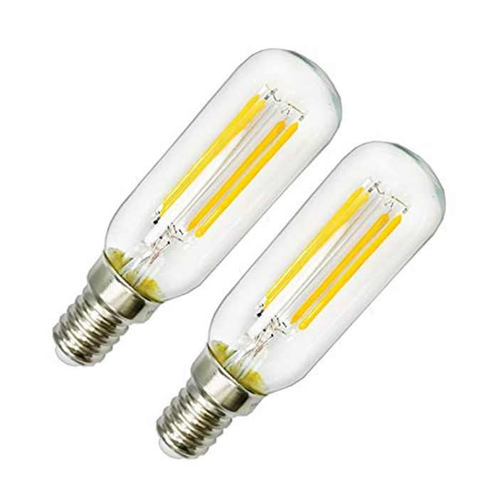 LED 4W SES Cooker Hood Light Bulb E14 Cool White 6000K T25 Tube Filament Bulbs 40W Incandescent Replacement Small Edison Screw Non-dimmable Appliance for Cooker Hood/Fridge Freezer (2-Pack)