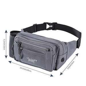 FTMMM Fanny Pack Running Waist Pack Bag for Men & Women with 1 Water Bottle Holder Lumbar Pack Fashion Multi-function with Headphone Jack for Outdoors Workout Traveling Casual Running Hiking Cycling