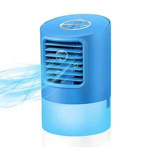VOSAREA Portable Mini Air Conditioner, Desktop Air Cooler Fan Table Air Conditioner Fan for Home, Bedroom,Office