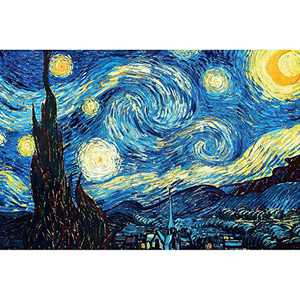 5D Diamond Painting Kits for Adults 40x50cm/15.7x19.6Inches Full Drill Embroidery Paintings Rhinestone Pasted DIY Van Gogh Painting Cross Stitch Arts Crafts for Home Wall Decor (The Starry Night)