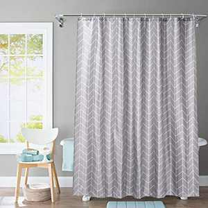 JRing Shower Curtain Set Holiday Shower Curtains for Bathroom Waterproof Polyester Fabric Machine Washable with 12 Hooks 72x72 Inch (Darkgrey)