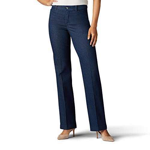 Lee Women's Flex Motion Regular Fit Trouser Pant, Indigo Rinse, 6
