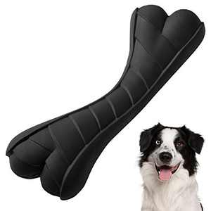 Dog Toys for Aggressive Chewers Small Breed Durable Rubber Dog Toys Indestructible Dog Bone Toys Tough Chew Toys for Small Medium Dogs, Training Interactive & Teeth Cleaning (Black)