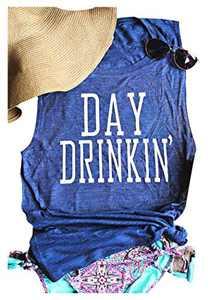 MK Shop Limited Women's Resting Beach Face Sleeveless T Shirt Funny Workout Tank Top (2#-Blue, L)