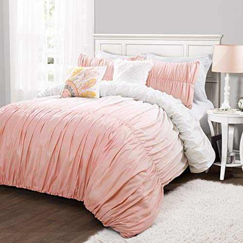 Lush Decor, Blush Umbre Fiesta 5 Piece Comforter Set, Full/Queen