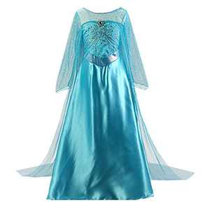 Enterlife Girls Princess Costume Sequin Fancy Princess Dress Up for Birthday Party Halloween Blue