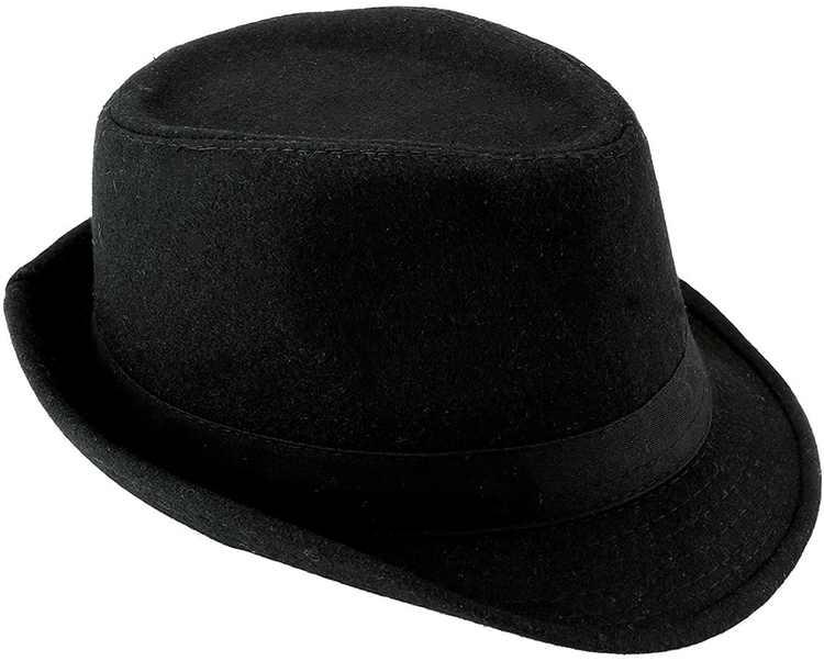 CHIC DIARY Trilby Fedoras Panama Jazz Hat Short Brim Bowler Hat for Men/Women