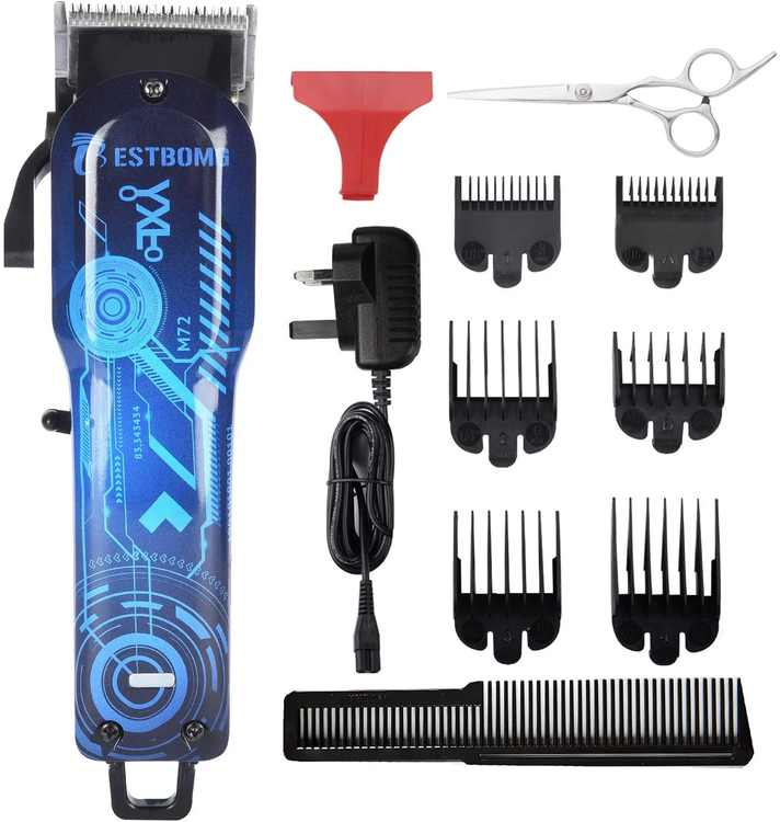 BESTBOMG Professional Cordless Rechargeable Hair Clippers for Men Beard Trimmer Home Hair Cutting Kit with Taper Lever, Self Hair Cutter with Heavy Duty Motor for Men/Barber/Family Use