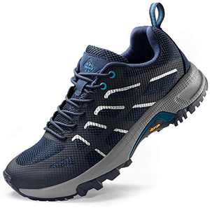 Wantdo Women's Lightweight Trail Running Shoes Outdoor Hiking Climbing Shoes Breathable Low Cut Trekking Shoes Navy