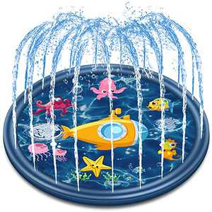"Jozo Outdoor Sprinkler Water Toys for Kids and Toddlers 68"", Kids Summer Splash Pad Toys for 1 2 3 4 5 6 7 8 Year Old Boys and Girls"
