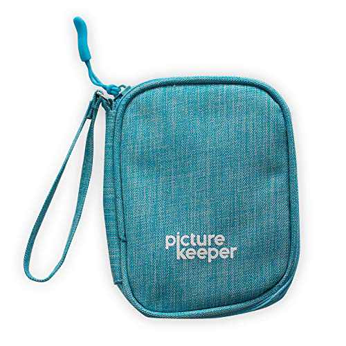 Picture Keeper USB Flash Drive Case (5 -Capacity), Carrying Bag for USB Flash Drives, SD Cards, USB Cables and Other Small Accessories, USB Holder/Travel Case, iDiskk/Photo Stick/Sunany-(Turquoise)