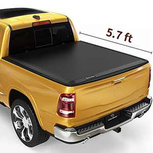 YITAMOTOR Soft Tri-Fold Truck Bed Tonneau Cover Compatible with 2019-2022 Dodge Ram 1500 New Body Style, Fleetside 5.7 ft Bed Without Rambox