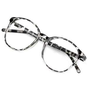 Blue Light Blocking Glasses for Women/Men, Anti Eyestrain, Computer Reading, TV Glasses, Stylish Oval Frame, Anti Glare(Leopard,No Magnification)