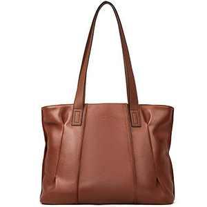 Womens Handbags Designer Purse Soft Genuine Leather Tote Large Fashion Ladies Shoulder Bag Brown