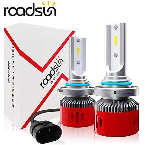 ROADSUN High Beam HB3 9005 LED Headlight Bulbs 12000LM 60W 6000K Cool White CSP Chips Bright Car Headlights Conversion Kit