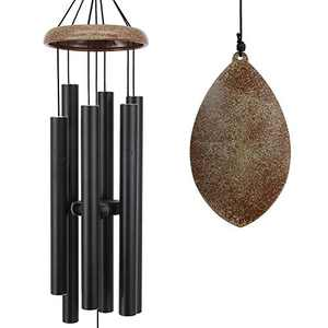 ASTARIN Wind Chimes for Outside Deep Tone, 35 Inch Wind Chimes Outdoor, Memorial Wind Chimes as Sympathy Gift, Outdoor Decorations for Your Garden, Patio (Metal Wind Chime-Black)
