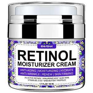 Envisha Retinol Moisturizer Cream for Face - Premium Night Cream with Retinol and Hyaluronic Acid - Both for Women & Men