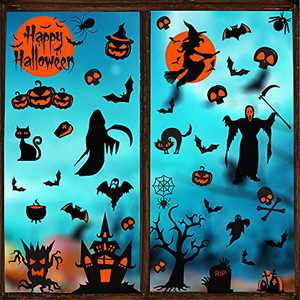 Halloween Decorations Clings Holiday Window Decals 42ct