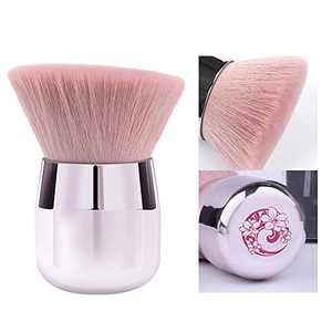ENERGY Kabuki Powder Foundation Brush Portable Powder Brush Angled Large Face Blush Brush(Pink,Angled)