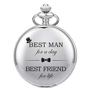 SIBOSUN Groomsmen/Groomsman for Wedding | Best Man | Father of The Bride | Father of The Groom - Pocket Watch Wedding