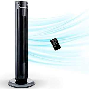 Aikoper Tower Fan, Oscillating Fan with Quiet Cooling 3 Wing Mode, 3 Speed and Remote Control, up to 7h Timer, LED Display, Low Noise Whole Room Floor Fan, 36-Inch, Black