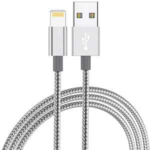 HaoKande iPhone Charger Lightning Cable 20CM Apple Certified Nylon Braided Long Fast USB Cord Compatible for iPhone 11Pro MAX Xs XR X 8 7 6S 6 Plus SE 5S 5C