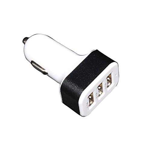 Car Charger, 1A Three USB Ports Charging Adapter, Flush Fit Aluminum Alloy Cigarette Lighter Compatible for iPhone iPad iPod Samsung Galaxy Note LG HTC Nexus GPS, Black