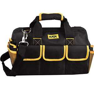 KATA 16 Inch Heavy Duty Tool Bag with Wide Mouth for Tool Storage,Carrier and Organizer,Bag for Tools,Yellow
