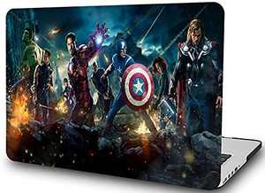 """Case for MacBook Air 13 Inch-L2W Laptop Hard Plastic Printed Cover Compatible with Mac Air 13.3"""" Model: A1466/A1369(2010-2017 Release),Avengers (B)"""