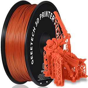 GEEETECH PLA 3D Printer Filament, 1kg Spool (2.2lbs), 1.75mm Dimensional Accuracy +/- 0.03mm,Brown