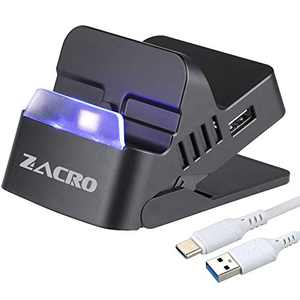 Zacro Switch Dock with Bluetooth- Portable Switch Charging Stand, Compact Switch to HDMI Adapter, Replacement Charging Dock for Nintendo Switch, Comes with Type-C Cable