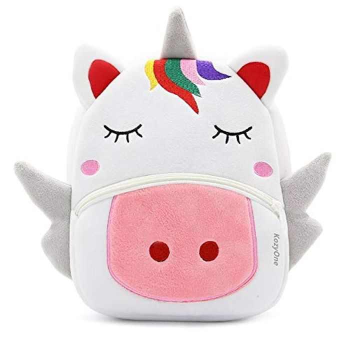 Cute Animal Cartoon Backpack School Bag, for Toddler Children Boys Girls, 2-5 Years Old, Perfect Gift for Kids, Children, Unisex (Unicorn)