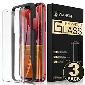 Wanski Tempered Glass Screen Protector for iPhone Xs Max, iPhone 11 Pro Max, Easy Installation [3 Pack]
