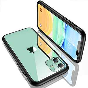 """Humixx iPhone 11 Case, Super 1.5-Meter Drop Protection [5 FT Military Grade Drop Tested] Protective Transparent Clear Case for Apple iPhone 11 6.1"""" with Shockproof Soft Black Bumper"""
