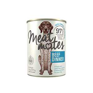 Meat Mates BPA-Free & Gelatin-Free Canned Dog Food, Beef Dinner 13oz 12 Pack