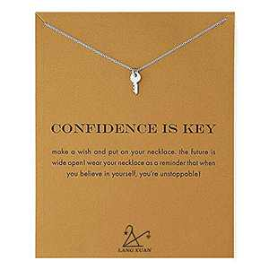 Friendship Compass Necklace Good Luck Butterfly Pendant Chain Alloy Necklace with Message Card Gift Card for Women Girl