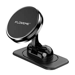 Magnetic Phone Car Mount - FLOVEME 360° Rotate Magnetic Cell Phone Holder for Car Dashboard Hands Free Phone Magnet Car Mount for iPhone 12 11 Pro Xs Max X XR 8 7 6 Samsung Note 20 S21 S11 S10 S9 Plus
