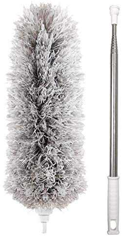 Dusters for Cleaning Extendable,HAINANSTRY Extendable Duster Reaches Up to 100 Inches,Microfiber Duster for Cleaning Ceiling Fan/Keyboard/Furniture/Cobweb