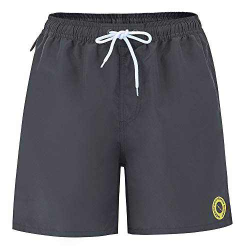 Yaluntalun Men's Board Shorts Quick Dry Swim Trunks No Mesh Lining with Pockets