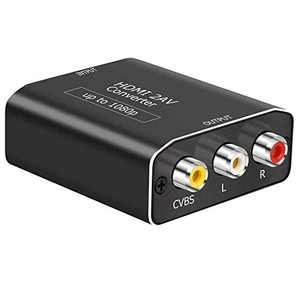 HDMI to RCA,Musou 1080p HDMI to AV 3RCA CVBs Composite Video Audio Adapter Supports PAL/NTSC for TV Stick, Roku, Chromecast, Apple TV, PC, Laptop, Xbox(Aluminum)