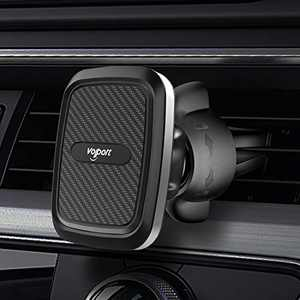 Car Vent Magnetic Phone Mount, VOLPORT Hands Free Air Vent Magnetic Car Mount Holder Adjustable Vent Clip Cell Phone Adjustable Mount with Twist-Lock for iPhone 12 Pro Max Mini 11 Samsung Lg and More