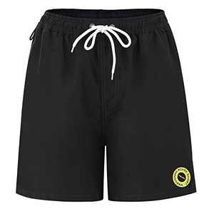 Meegsking Men's Quick Dry Swim Trunks Solid Beach Shorts Drawstring Elastic Waistband Bathing Suit Without Mesh Lining